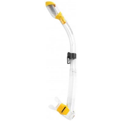 Трубка для  плавания Cressi Sub Dry, желтая