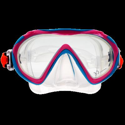 Маска для плавания Marlin Joy,  розово-голубая, детская