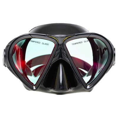 Маска для подводной охоты Marlin Crystal, просветленная, черная