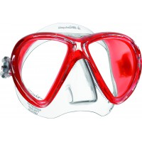 Маска для дайвинга Mares X-VU LiquidSkin,прозрачно-красная