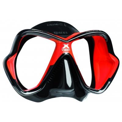 Маска для дайвинга Mares X-Vision Ultra LS , красная
