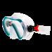 Маска для плавания Marlin Joy,  бело-зеленая, детская