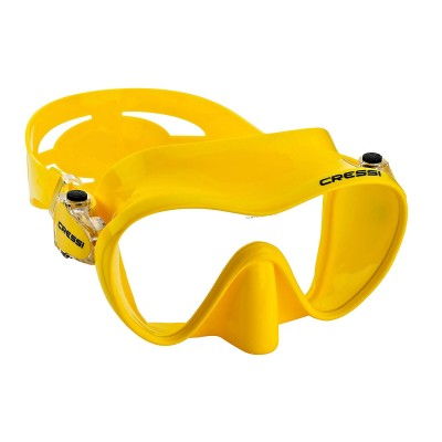 Маска для плавания Cressi Sub F1,  желтая