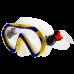 Маска для плавания Marlin Joy,  желто-синяя, детская