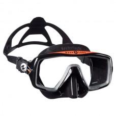 Маска для плавания Aqua Lung Ventura+, черно-оранжевая