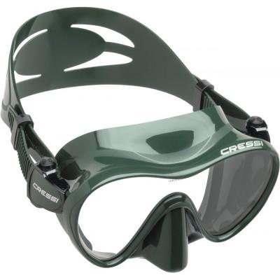 Маска для подводной охоты Cressi Sub F1,  зеленая