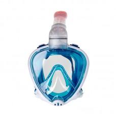 Маска полнолицевая для плавания Marlin FULL FACE  р. XS/S, бело-синяя