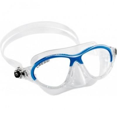 Маска для плавания Cressi Sub Moon, прозрачно-голубая, детская