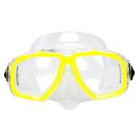 Маска для плавания Marlin Junior, прозрачно-желтая, детская