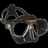 Маска для дайвинга Aqua Lung Look 2, черно-оранжевая