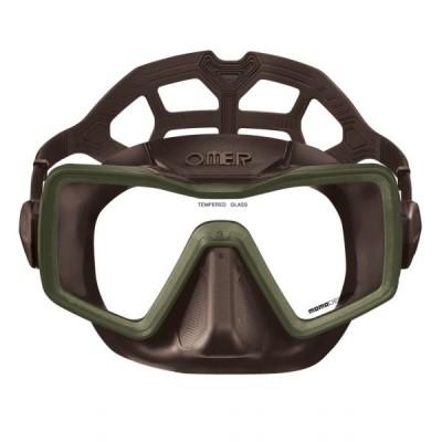 Маска для подводной охоты Omer Apnea, коричневая
