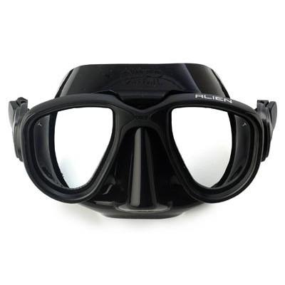 Маска для подводной охоты Omer Alien, черная