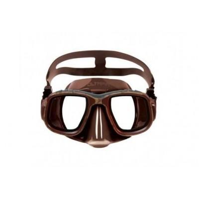 Маска для подводной охоты Omer Olympia, коричневая