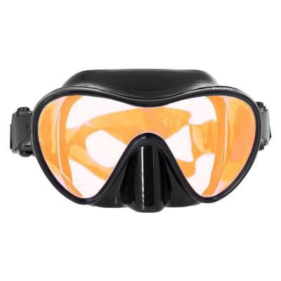 Маска для подводной охоты Marlin Frameless Duo просетленная,  черная