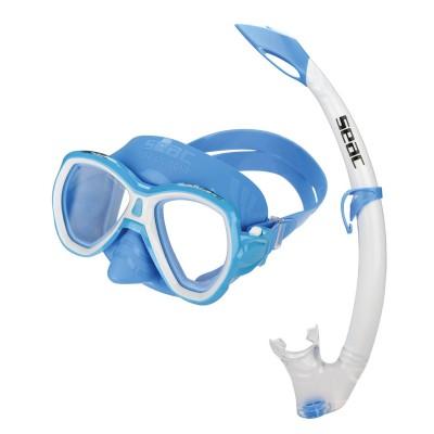 Детский набор для плавания Seac Sub ELBA MD, голубой