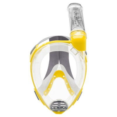 Маска полнолицевая Cressi Sub Duke Dry р.S/M, желтая