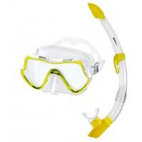 Взрослый набор для плавания Mares Pure Vision, желтый