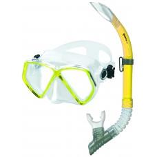 Взрослый набор для плавания Mares Zephir, желтый