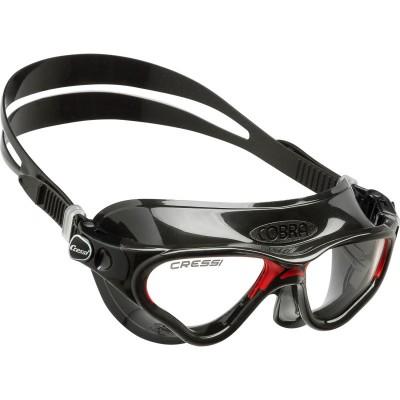 Купить Очки для плавания Cressi Sub Cobra, черно-красные