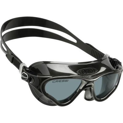 Купить Очки для плавания Cressi Sub Cobra, черные, тонированные