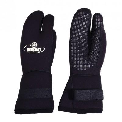 Трехпалые перчатки для подводной охоты Beuchat Pro Gloves  7мм,  черный