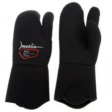 Трехпалые перчатки для подводной охоты Marlin Arctic 7мм, черный