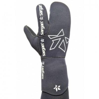Трехпалые перчатки для подводной охоты Sargan Мечта Пианиста 7мм, черный