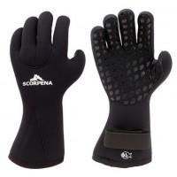 Перчатки неопреновые Scorpena С  6мм, черный