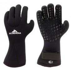 Перчатки для подводной охоты Scorpena С  6мм, черный