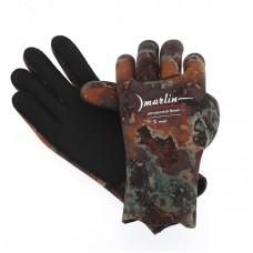 Перчатки для подводной охоты Marlin Ultrastretch 5мм, камо