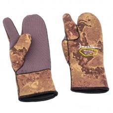 Перчатки для подводной охоты Marlin Nord Oliva 7мм, камо