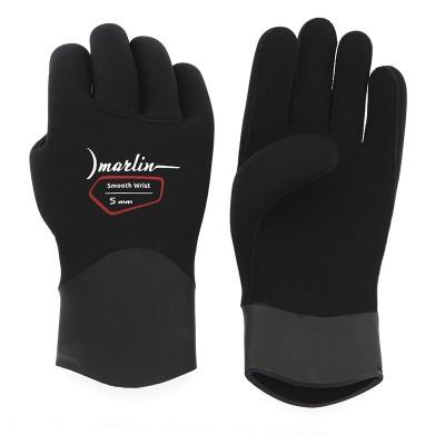 Перчатки для подводной охоты Marlin Smooth Wrist Duratex 5мм, черный
