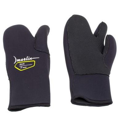 Перчатки для подводной охоты Marlin  Nord 7мм, черный