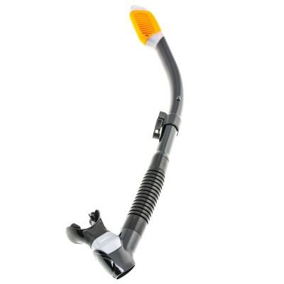 Трубка для дайвинга Marlin Dry Max, черно/оранжевая